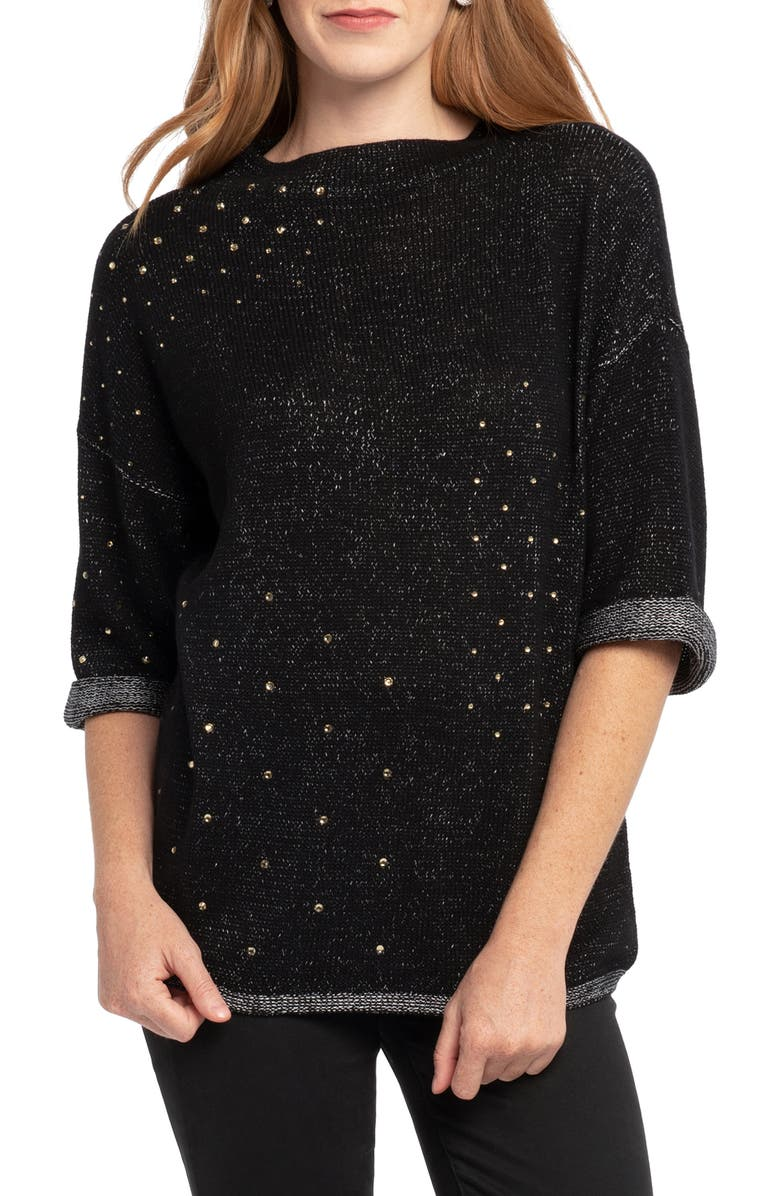 NIC+ZOE Starry Eyed Sweater, Main, color, 004