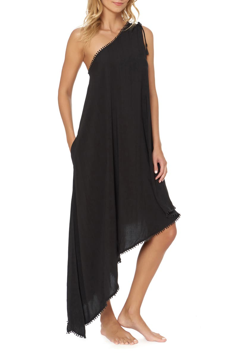 RED CARTER One-Shoulder Maxi Cover-Up Dress, Main, color, 001