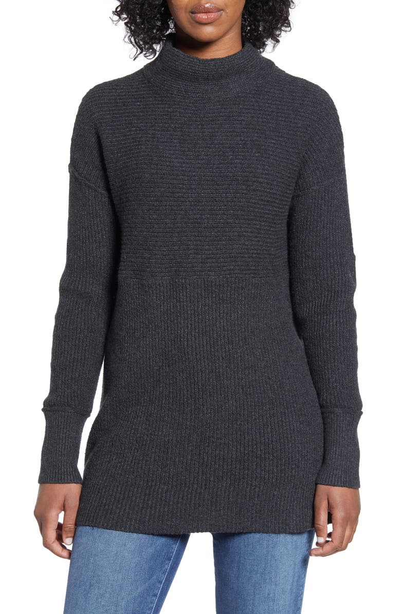 CASLON<SUP>®</SUP> Ribbed Tunic Sweater, Main, color, 021