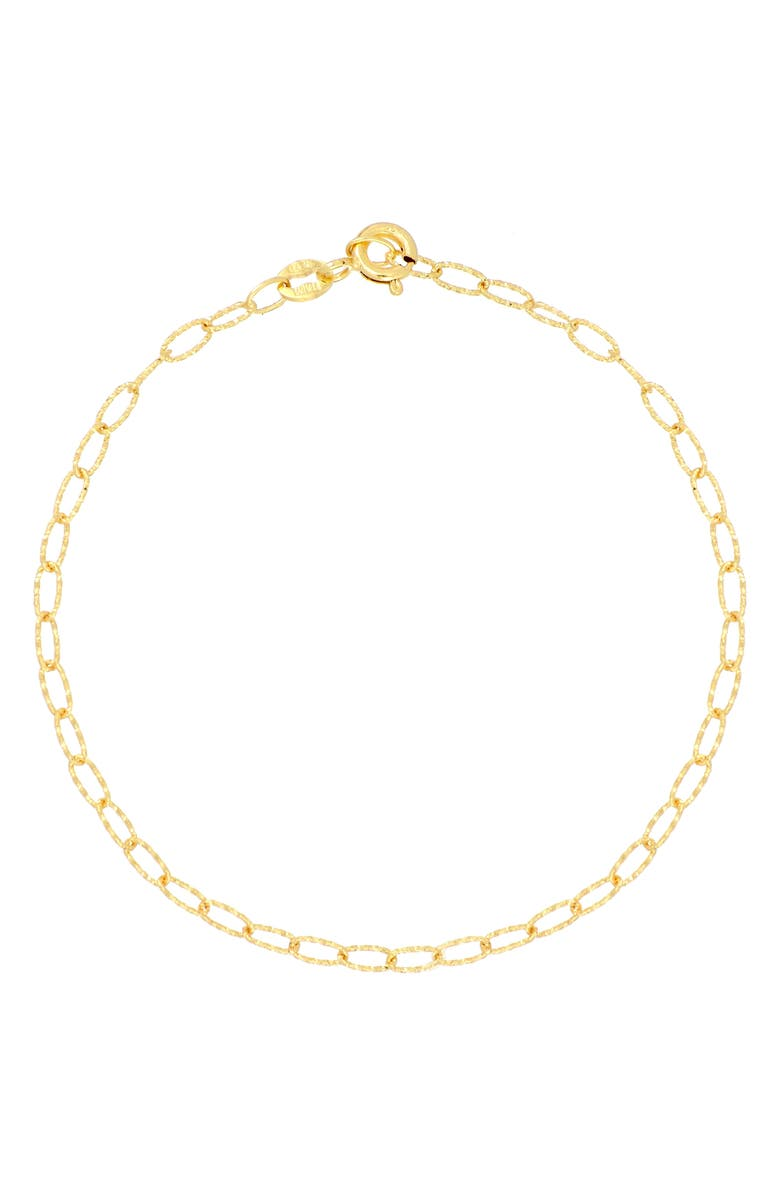 BONY LEVY 14K Gold Textured Chain Bracelet, Main, color, YELLOW GOLD