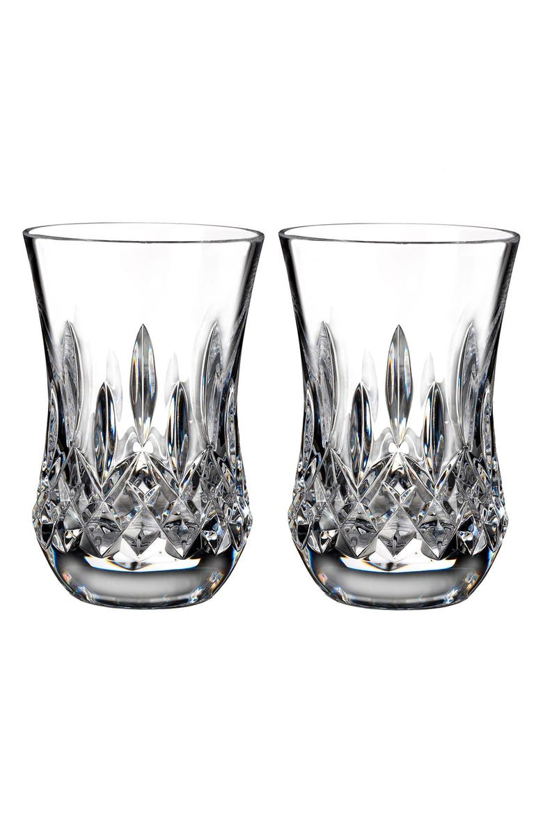 WATERFORD Lismore Connoisseur Set of 2 Lead Crystal Flared Sipping Tumblers, Main, color, 100