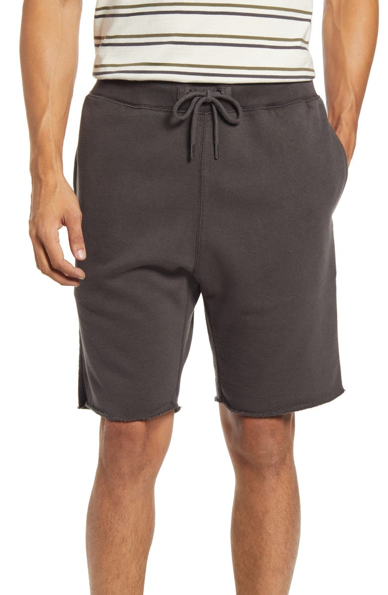 MADEWELL Men's Sweatshorts, Main, color, BLACK COAL