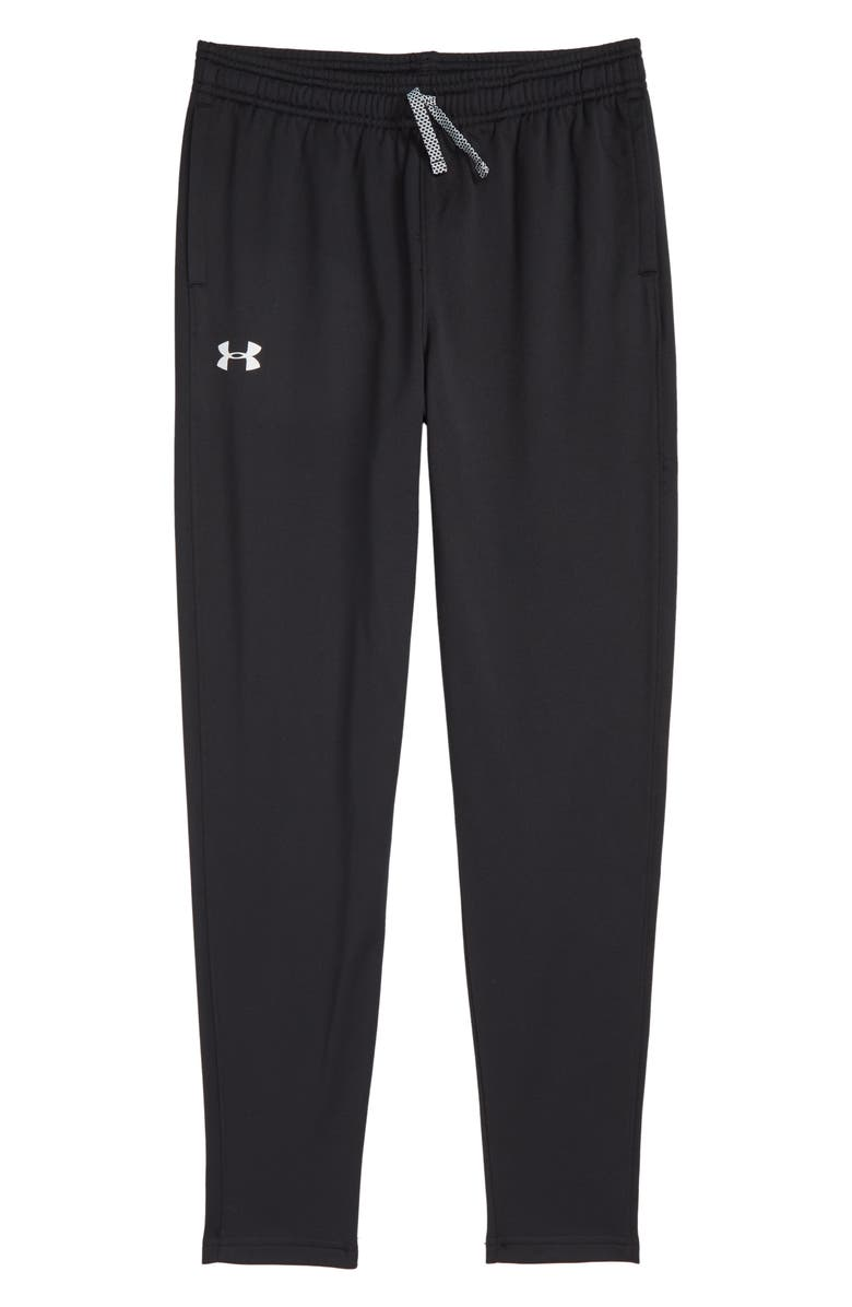 UNDER ARMOUR Brawler Tapered Sweatpants, Main, color, 001