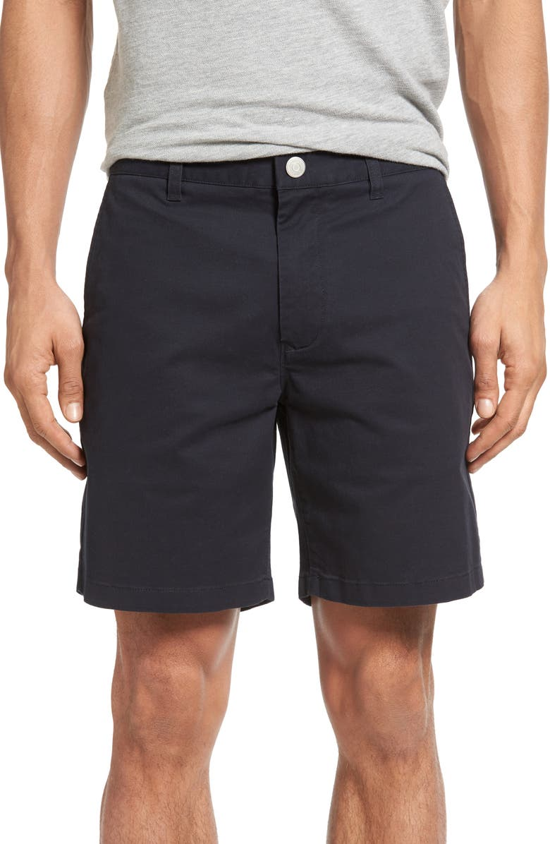 BONOBOS Stretch Washed Chino 7-Inch Shorts, Main, color, JET BLUES