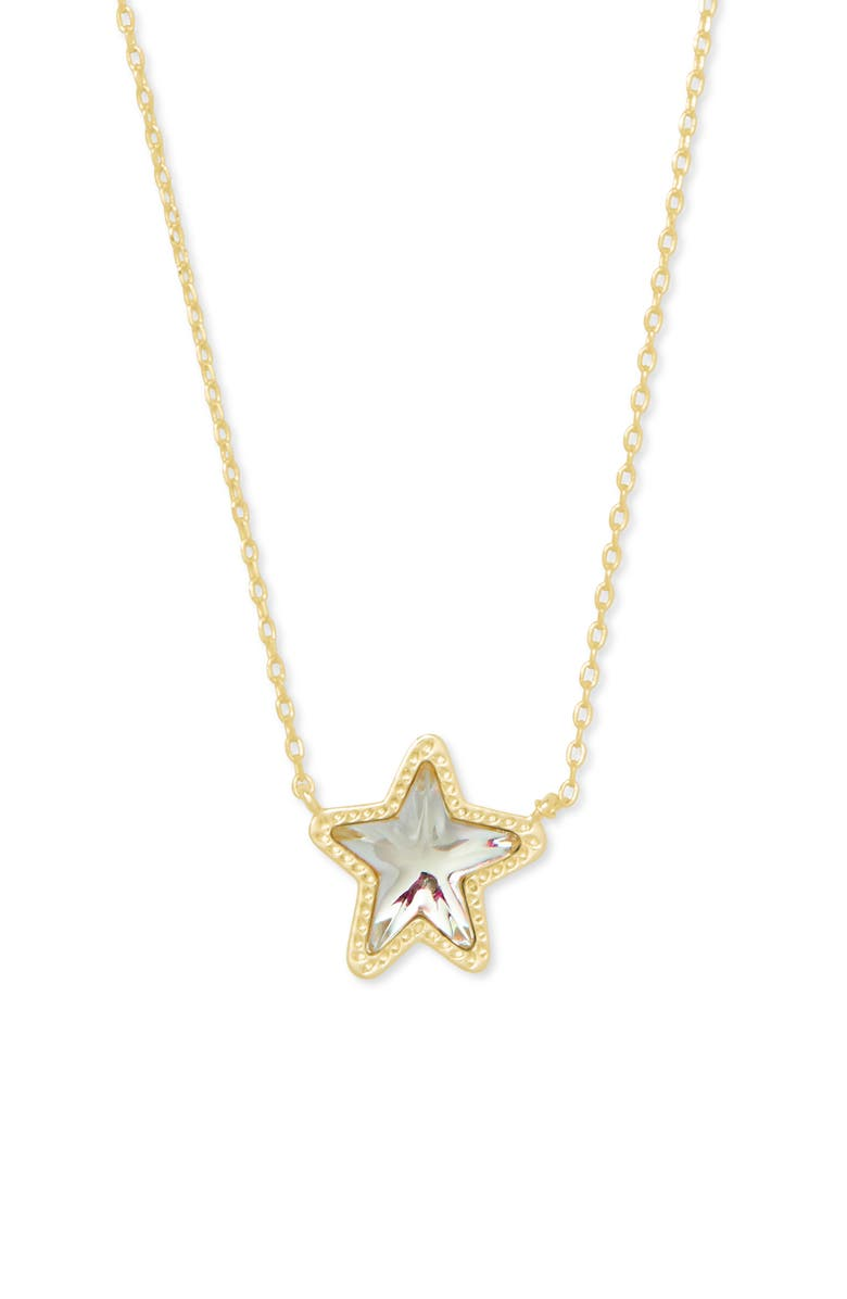 KENDRA SCOTT Jae Star Pendant Necklace, Main, color, DICHROIC GLASS