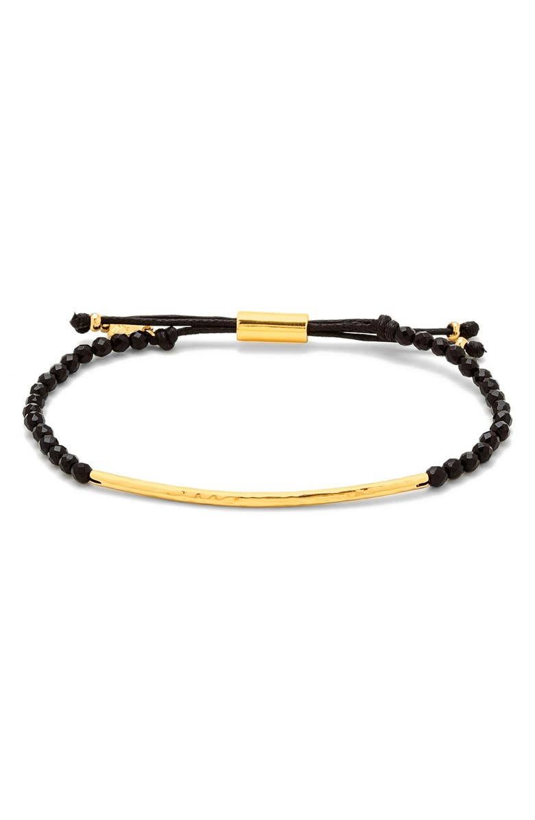 GORJANA Power Gemstone Bracelet, Main, color, PROTECTION/ BLACK/ GOLD