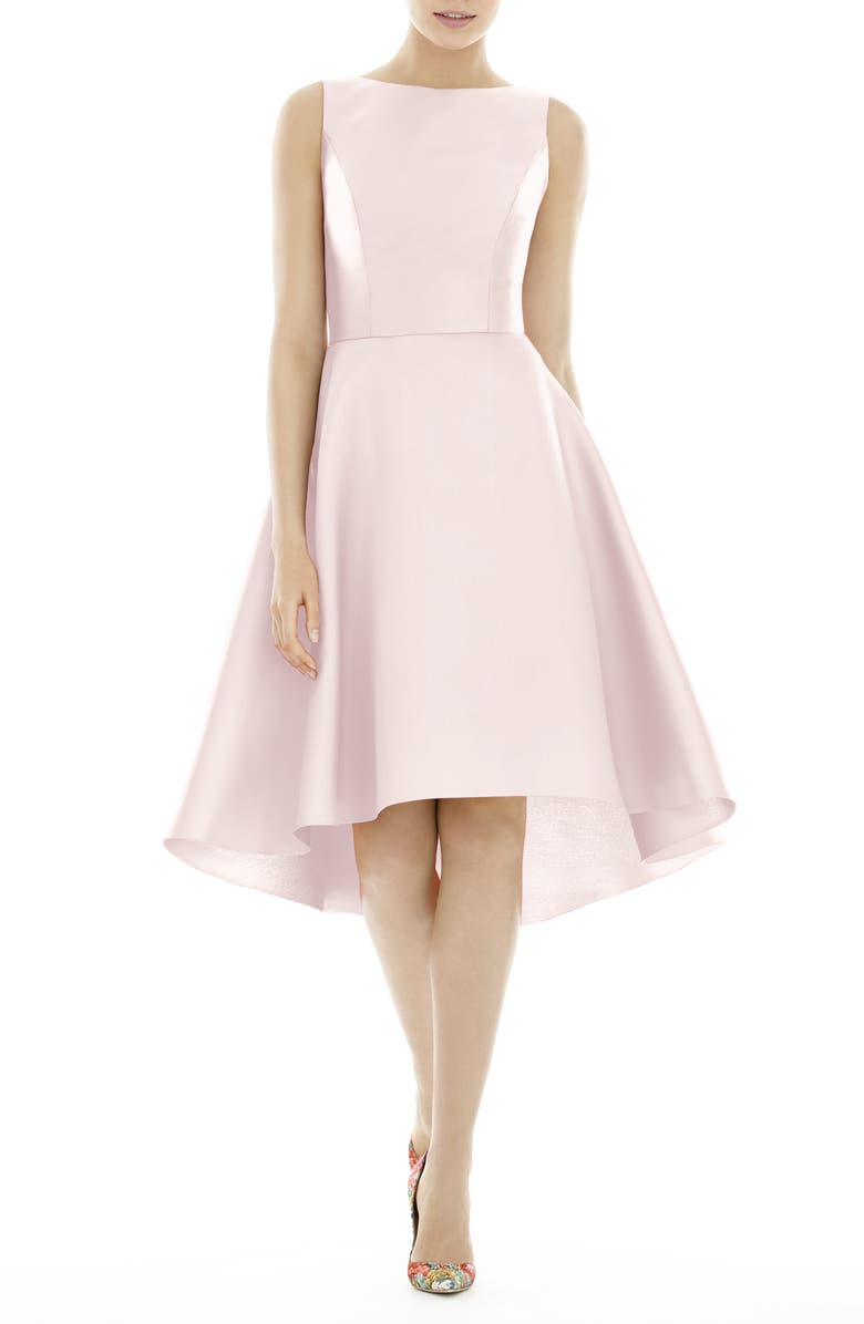 ALFRED SUNG High/Low Cocktail Dress, Main, color, BLUSH