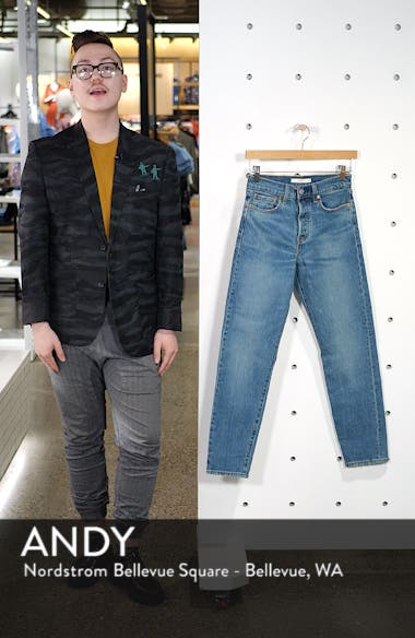 Wedgie Icon Fit High Waist Ankle Jeans, sales video thumbnail
