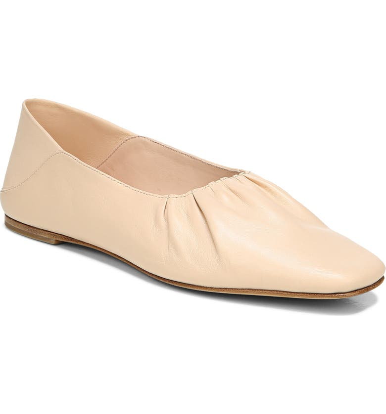 VINCE Kali Convertible Ruched Ballet Flat, Main, color, LYCHEE