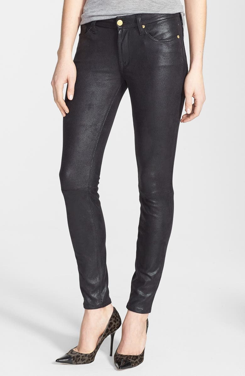 7 FOR ALL MANKIND<SUP>®</SUP> 'The Skinny' Faux Leather Skinny Pants, Main, color, 004