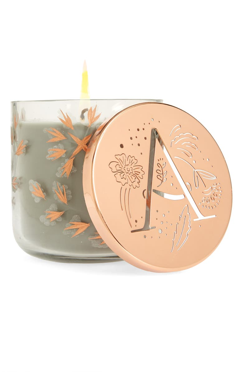 ANTHROPOLOGIE HOME Lumi Monogram Scented Candle, Main, color, 100