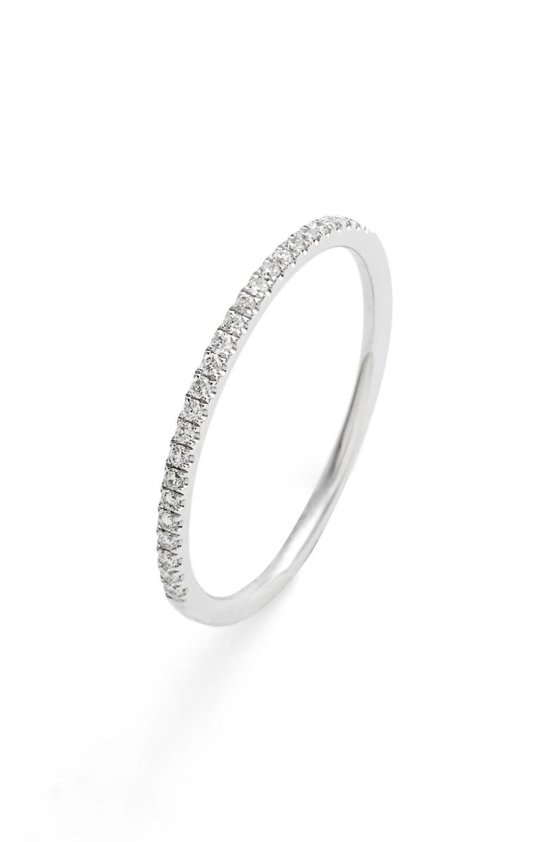 BONY LEVY Diamond Stacking Ring, Main, color, WHITE GOLD
