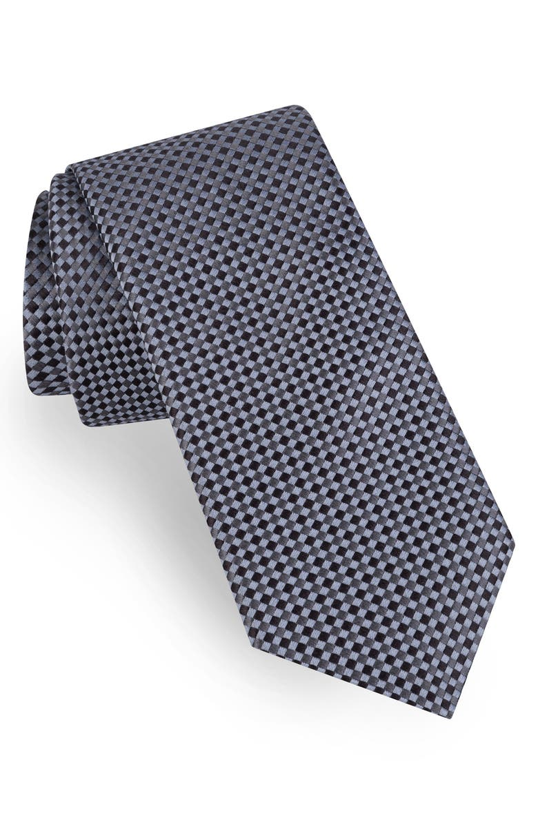 TED BAKER LONDON Neat Silk Tie, Main, color, Grey