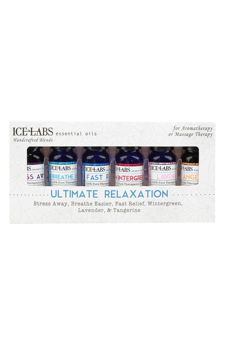VIVITAR Ultimate Relaxation Essential Oils - Set of 6, Main, color, CLEAR