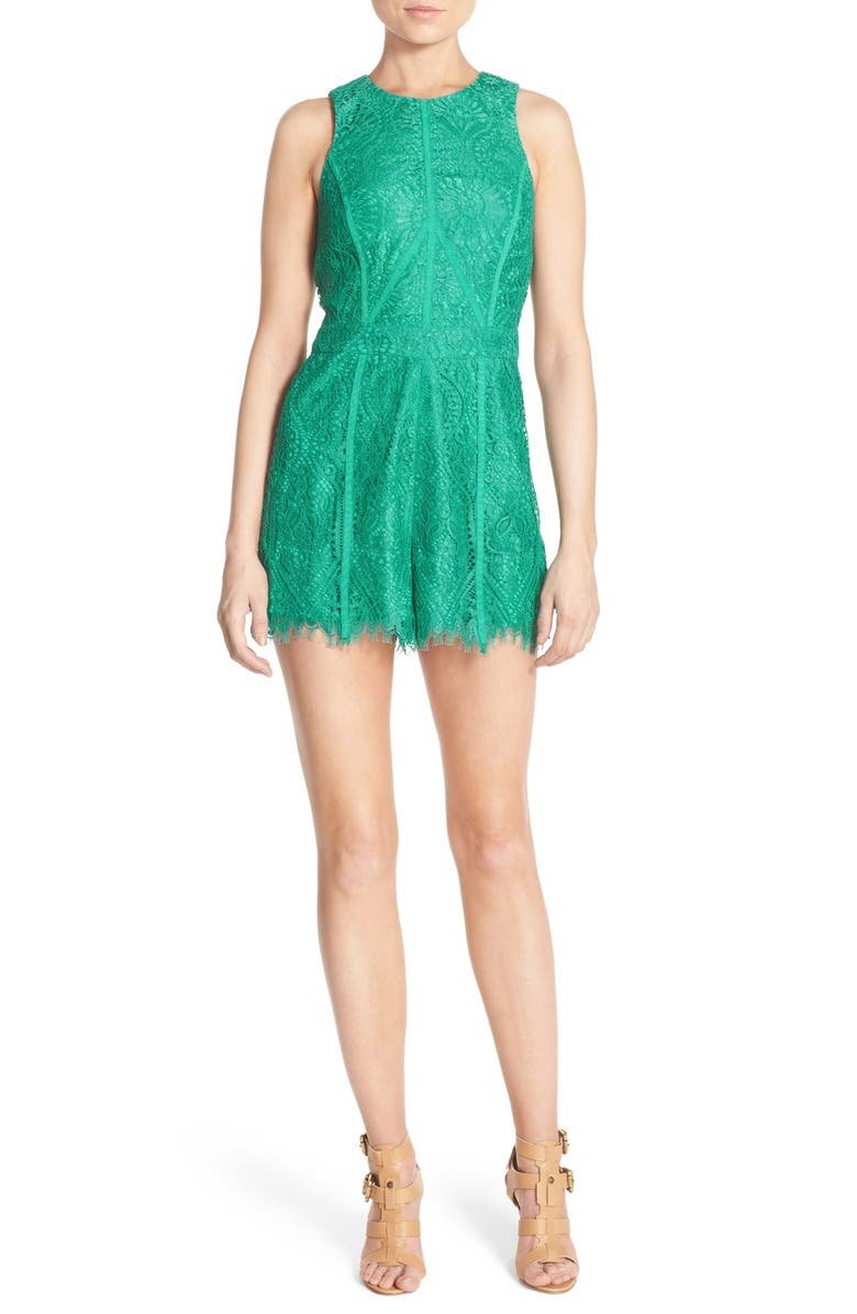 ADELYN RAE Lace Romper, Main, color, 330