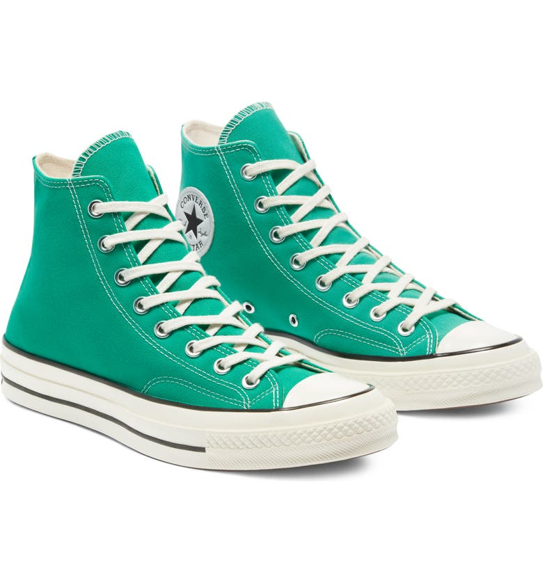 CONVERSE Chuck Taylor<sup>®</sup> All Star<sup>®</sup> 70 High Top Sneaker, Main, color, COURT GREEN/ EGRET/ BLACK