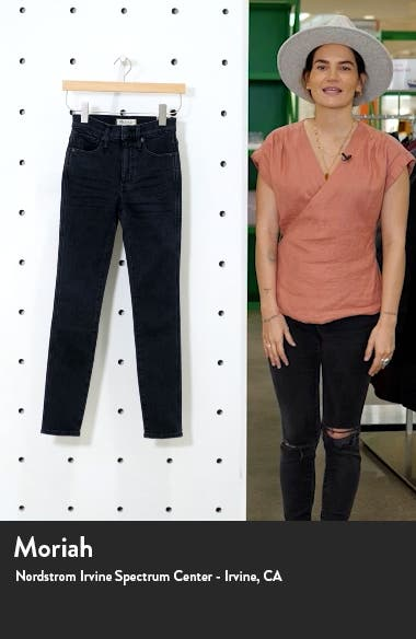 10-Inch High Waist Ankle Skinny Jeans, sales video thumbnail