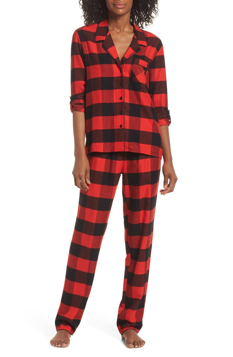 NORDSTROM Lingerie Starlight Flannel Pajamas, Main, color, 610
