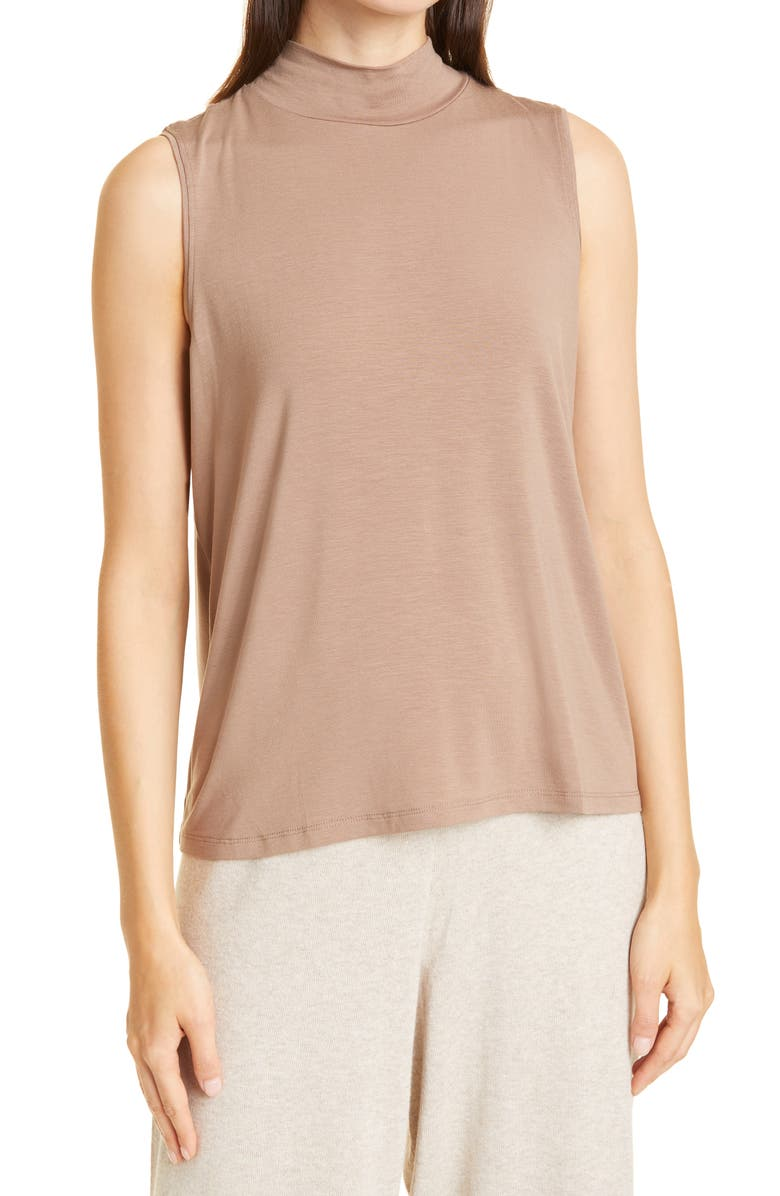 EILEEN FISHER Mock Neck Tank, Main, color, BARLY