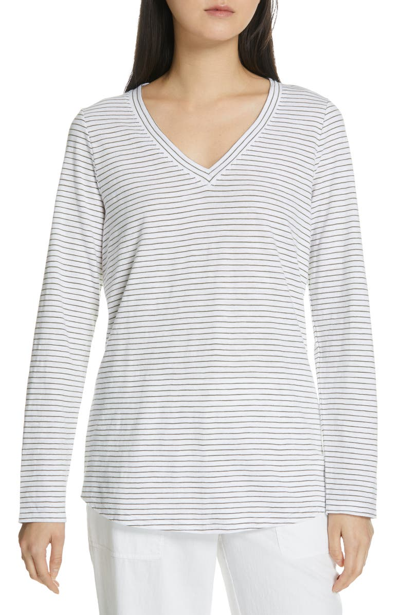 EILEEN FISHER Organic Cotton Top, Main, color, 100