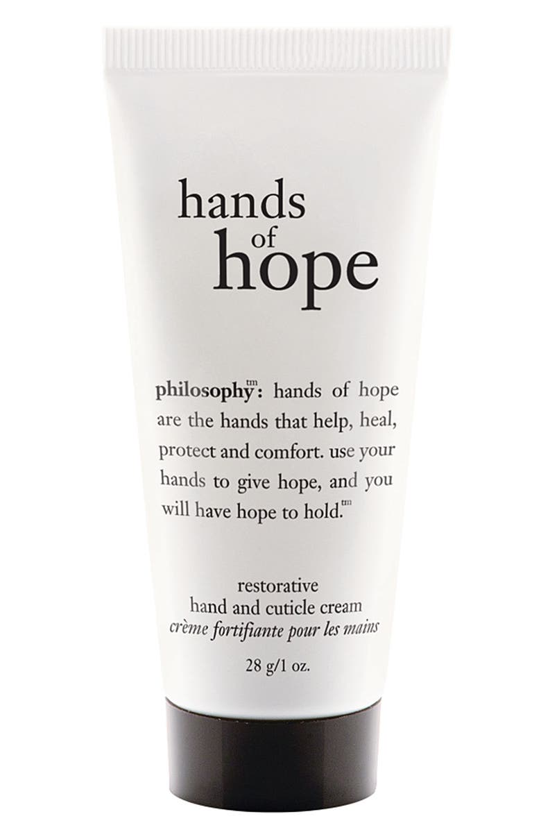 PHILOSOPHY hands of hope hand & cuticle cream, Main, color, 000
