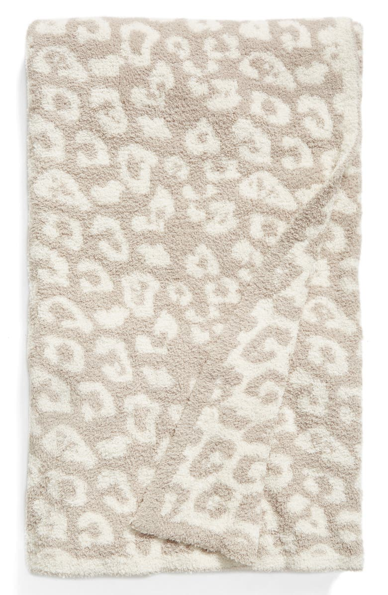 BAREFOOT DREAMS<SUP>®</SUP> In the Wild Throw Blanket, Main, color, STONE/ CREAM