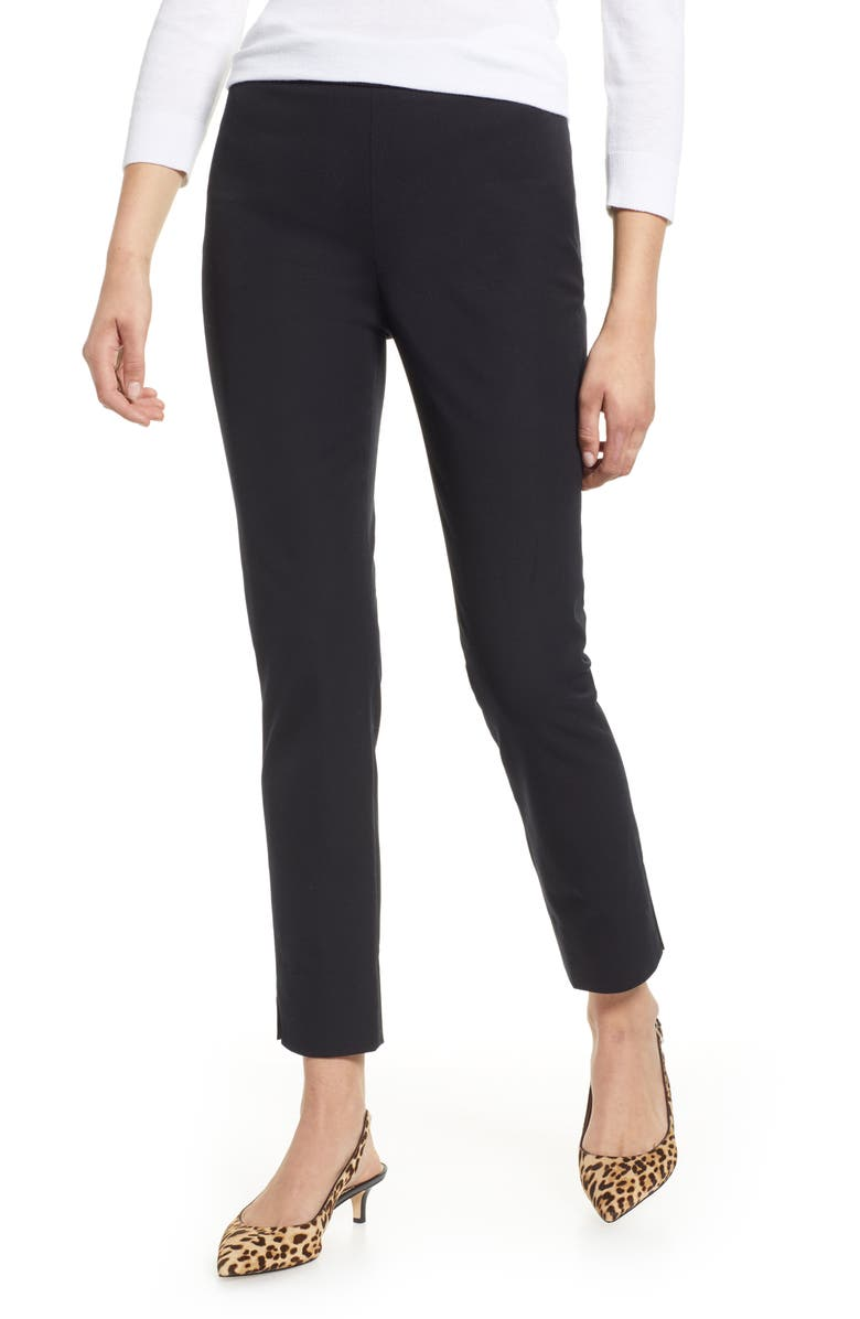 1901 Stretch Ankle Skinny Pants, Main, color, BLACK