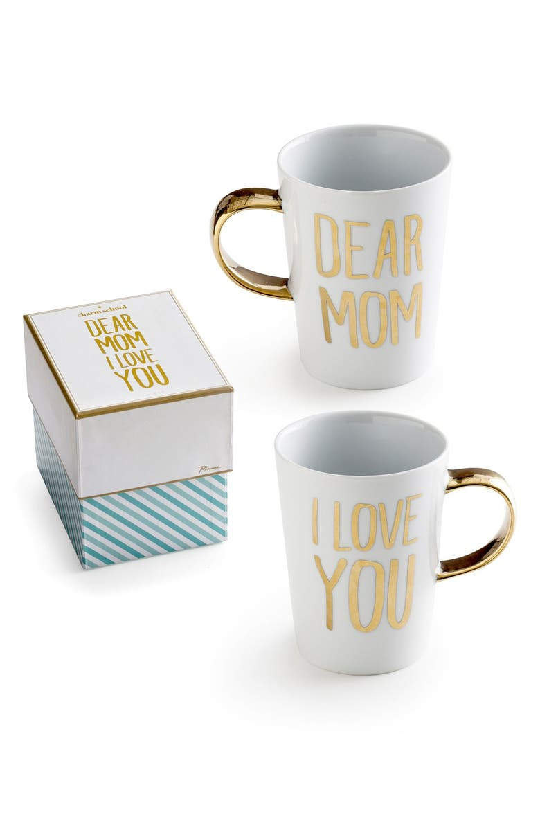ROSANNA 'Dear Mom I Love You' Porcelain Coffee Mug, Main, color, 100