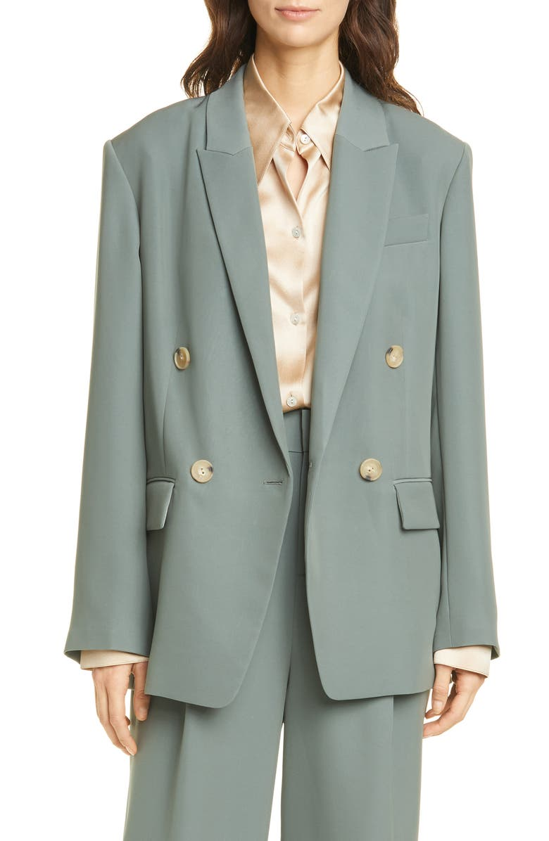 VINCE Double Breasted Jacket, Main, color, 400