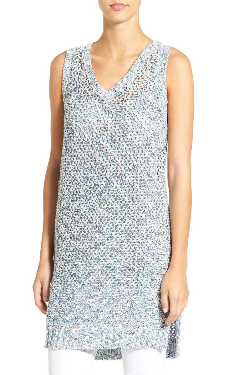 ZZDNU WILLOW & CLAY Willow & Clay Sleeveless Open Knit Tunic, Main, color, 441
