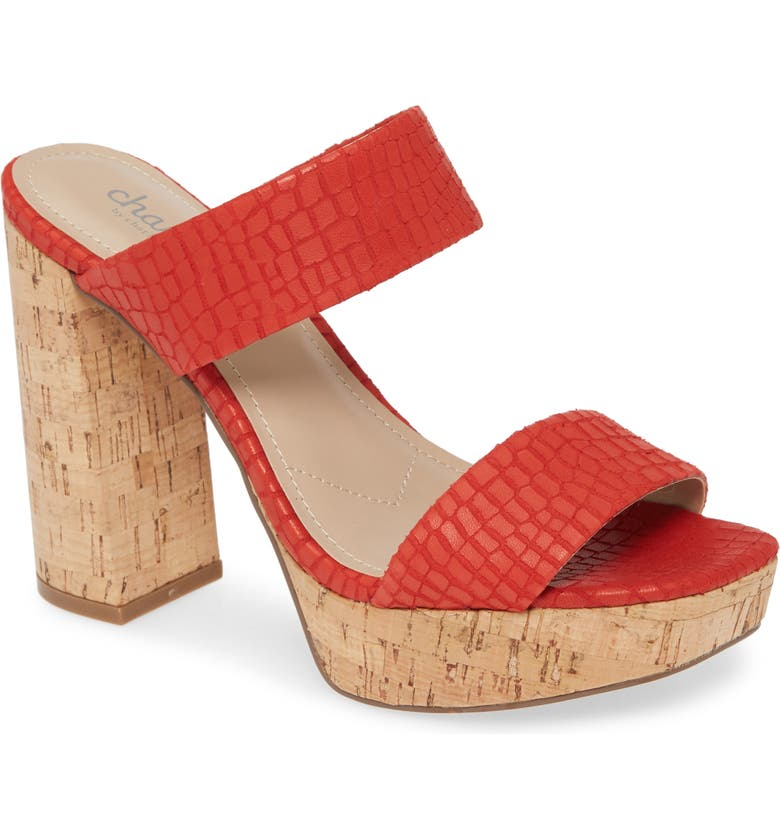 CHARLES BY CHARLES DAVID Inbeween Sandal, Main, color, HOT RED