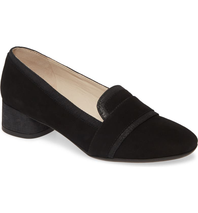 AMALFI BY RANGONI Rozzana Loafer Pump, Main, color, BLACK SUEDE