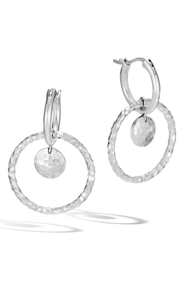 JOHN HARDY Dot Hammered Interlink Earrings, Main, color, Silver