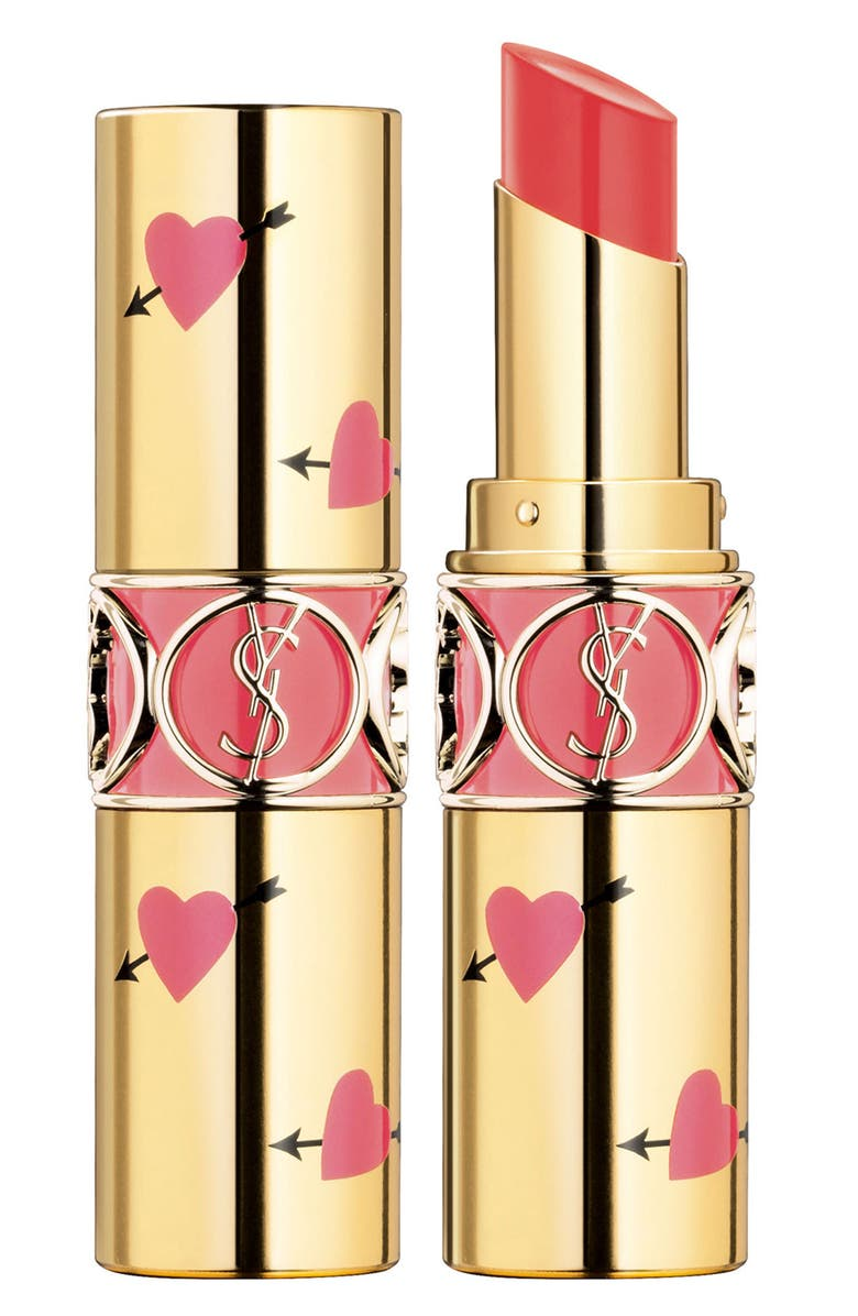 YVES SAINT LAURENT Heart and Arrow Rouge Volupte Shine Collector Oil-in-Stick Lipstick, Main, color, 950