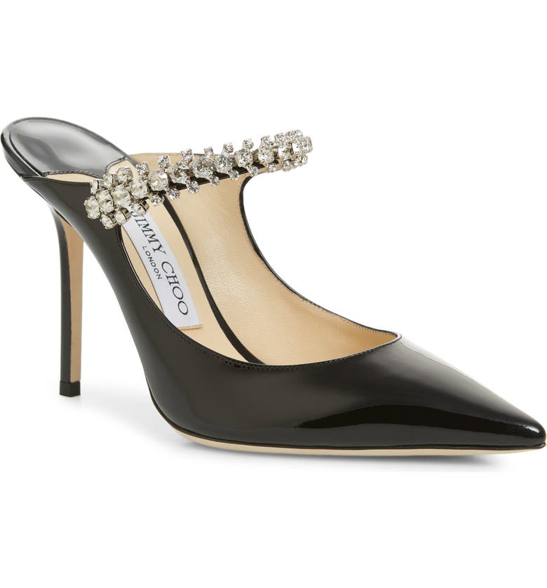 JIMMY CHOO Bing Crystal Embellished Mule, Main, color, 001