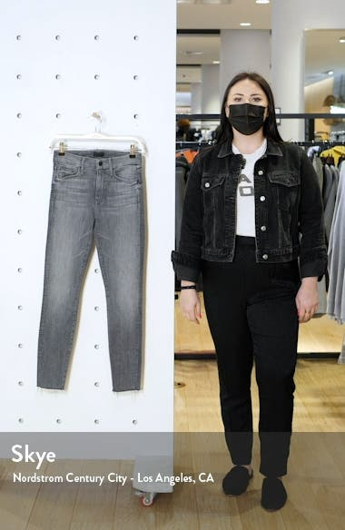 'The Looker' High Rise Frayed Ankle Skinny Jeans, sales video thumbnail
