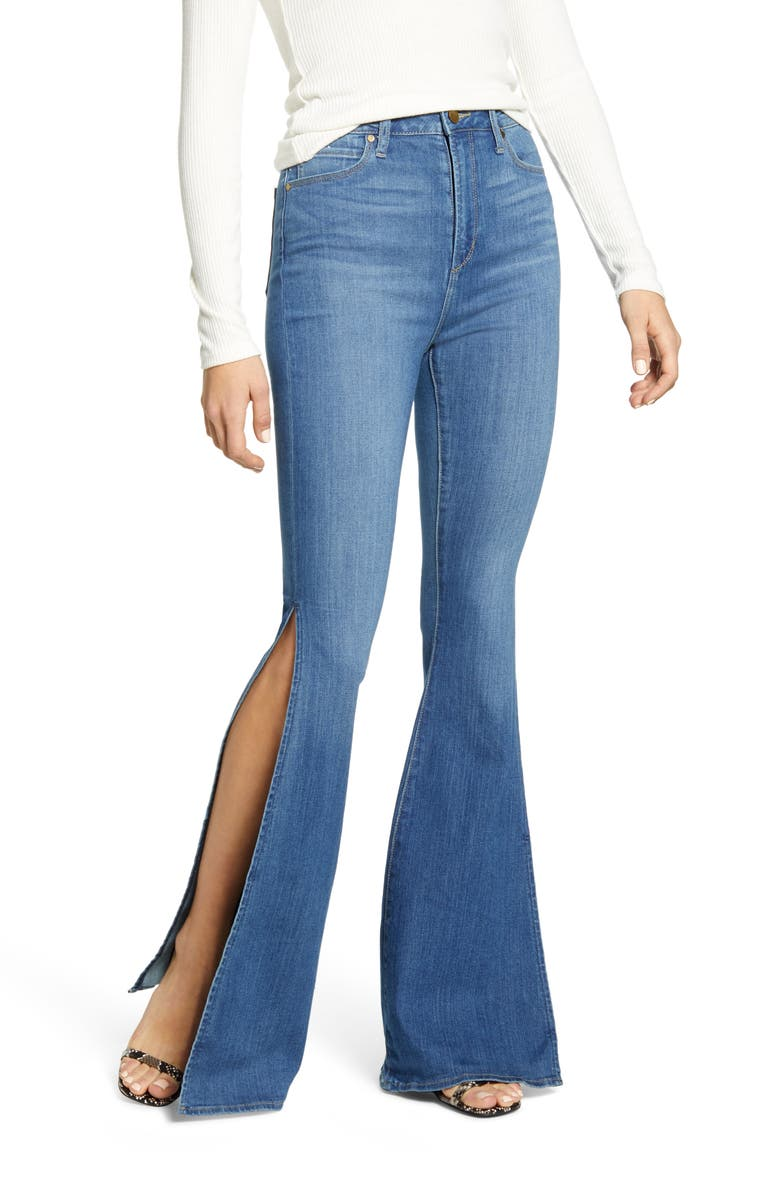 ARTICLES OF SOCIETY Bridgette Side Slit Flare Jeans, Main, color, 480