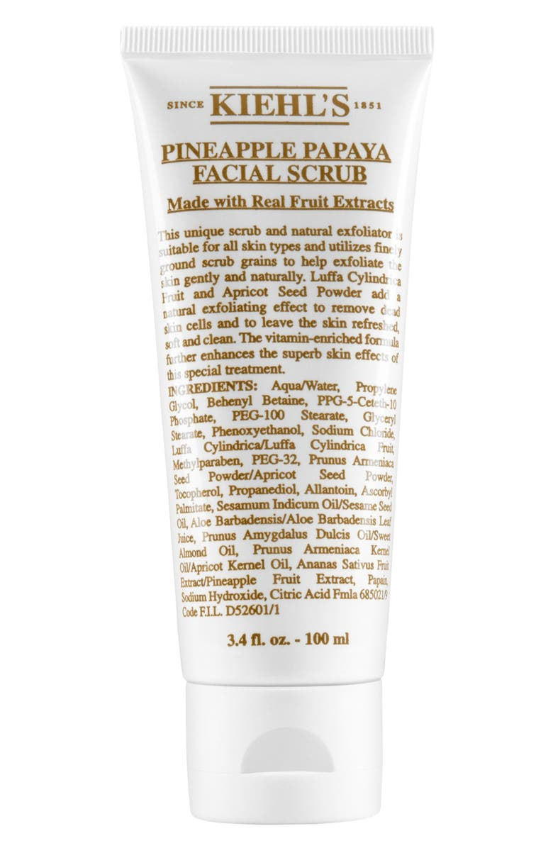 KIEHL'S SINCE 1851 Pineapple Papaya Facial Scrub, Main, color, NO COLOR