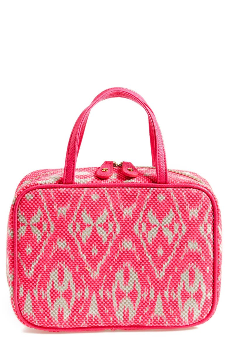STEPHANIE JOHNSON 'Tamarindo - Pink' Traveler Cosmetics Case, Main, color, 000