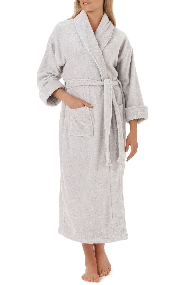 THE WHITE COMPANY Unisex Classic Cotton Robe, Main, color, 020