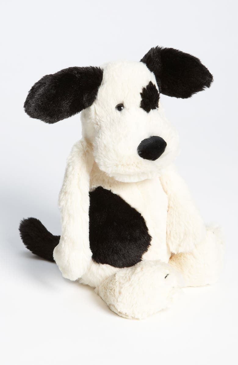 JELLYCAT 'Bashful' Puppy, Main, color, BLACK AND CREAM