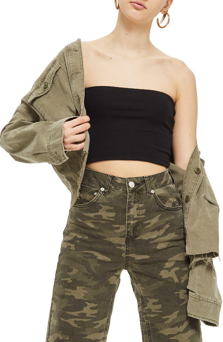 TOPSHOP Solid Tube Top, Main, color, 001