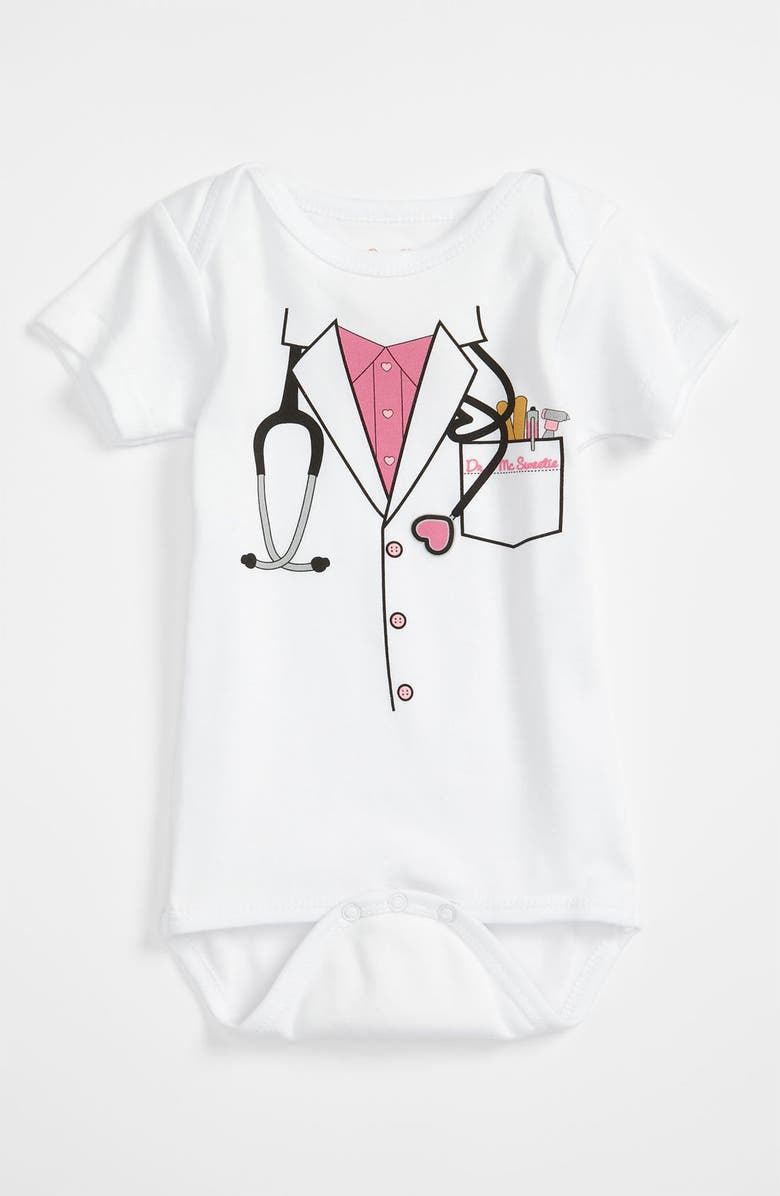 SARA KETY BABY & KIDS 'Doctor' Bodysuit, Main, color, 100
