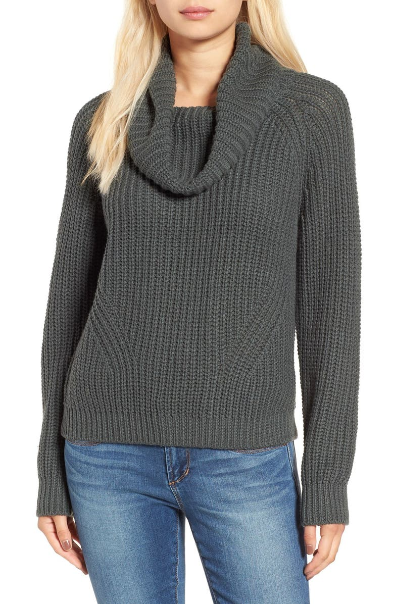 BP. Cowl Neck Pullover Sweater, Main, color, GREY URBAN