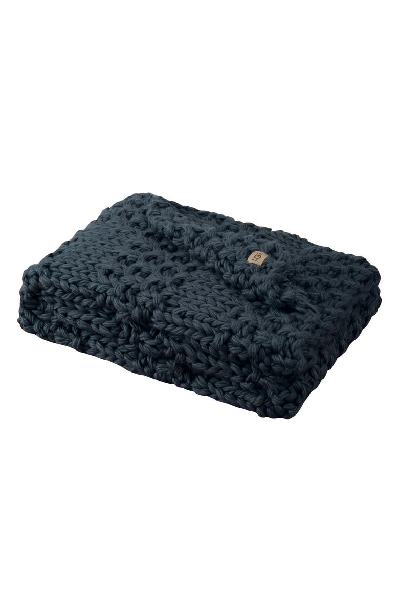 UGG<SUP>®</SUP> Hava Knit Throw Blanket, Main, color, IMPERIAL