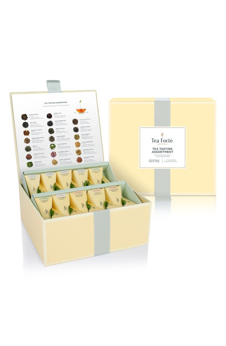TEA FORTÉ 'Classic Collection - Tea Tasting' Assorted Tea Infuser Chest, Main, color, Yellow