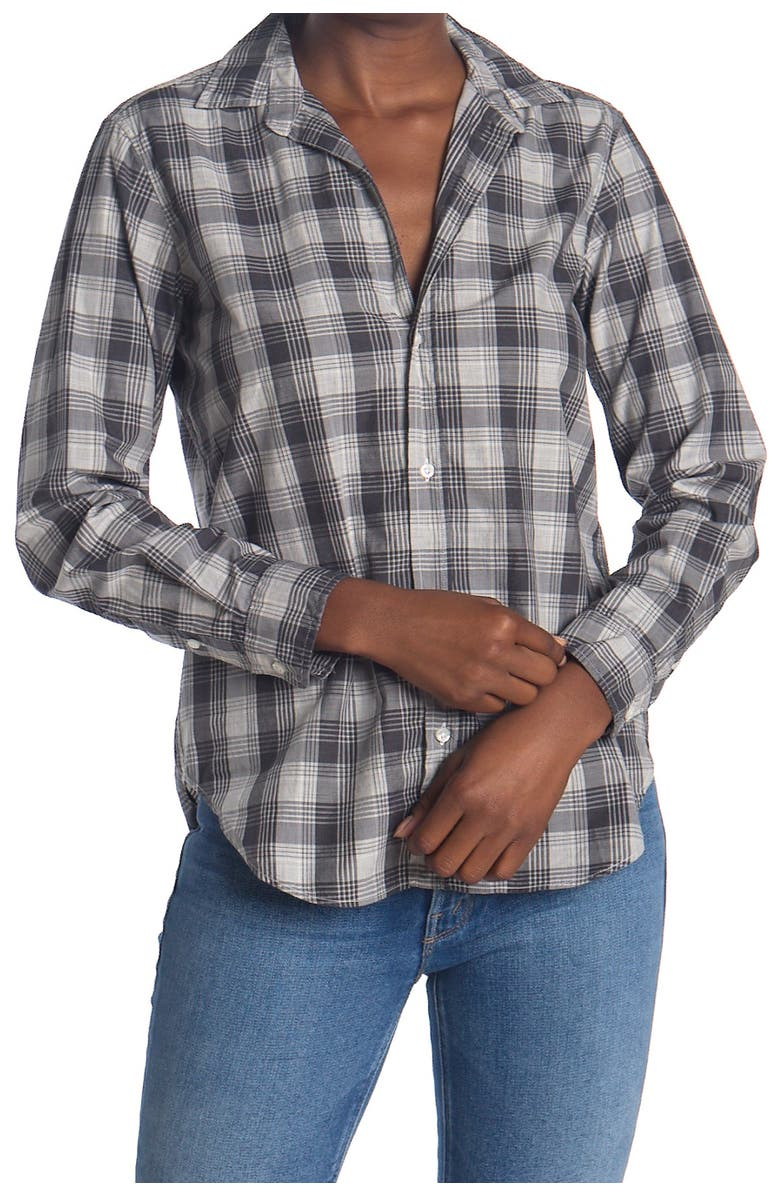 FRANK AND EILEEN Frank Plaid Tailored Fit Tunic Shirt, Main, color, HETAHER GREY BLACK PLAID