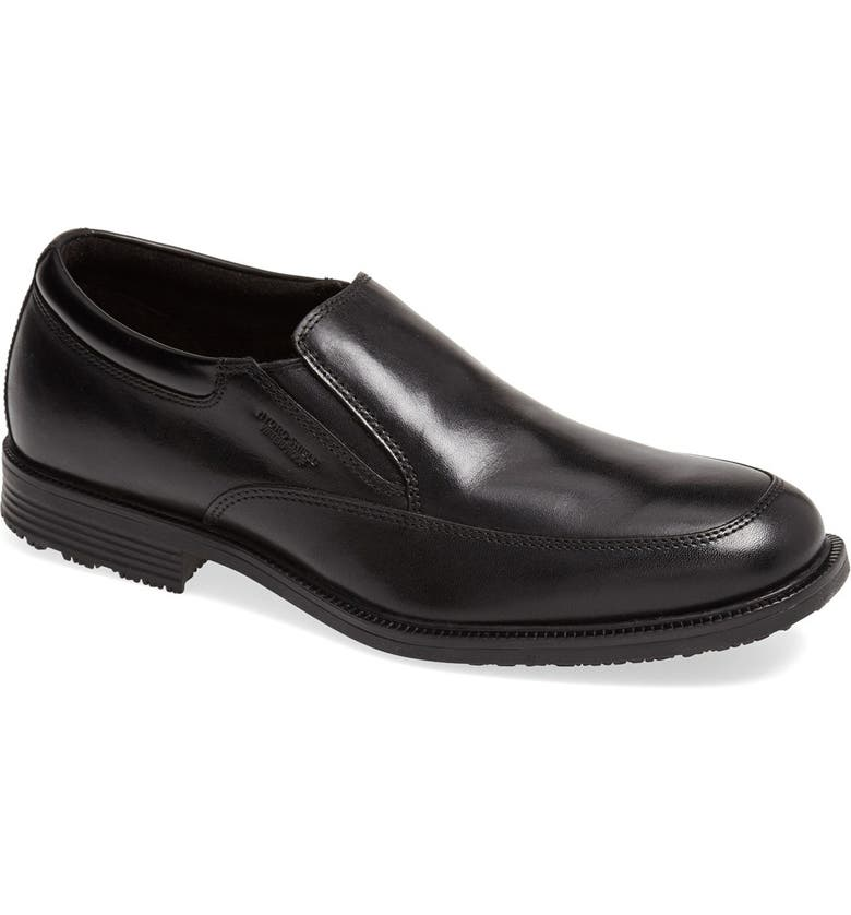 ROCKPORT 'Essential Details' Waterproof Loafer, Main, color, BLACK