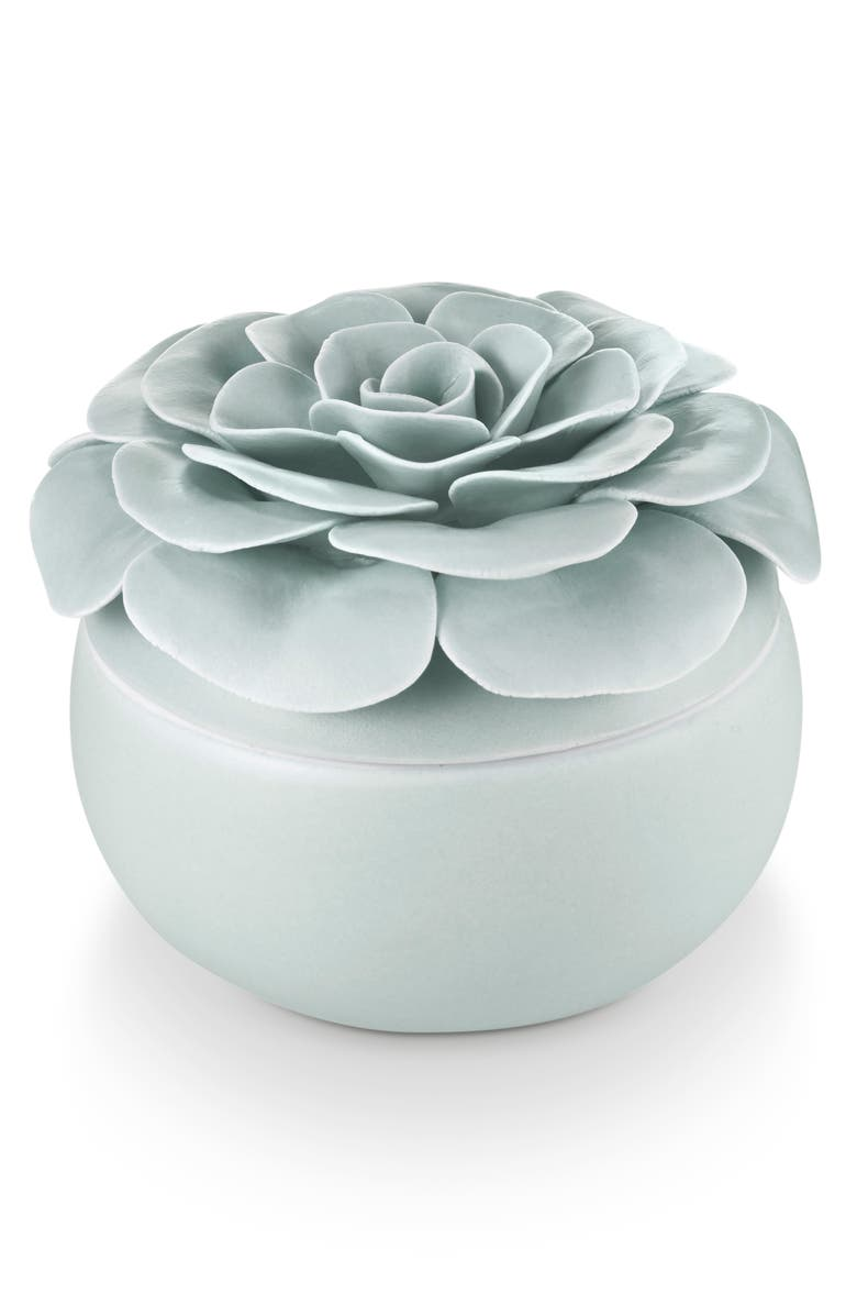 ILLUME<SUP>®</SUP> Ceramic Lidded Flower Candle, Main, color, 400