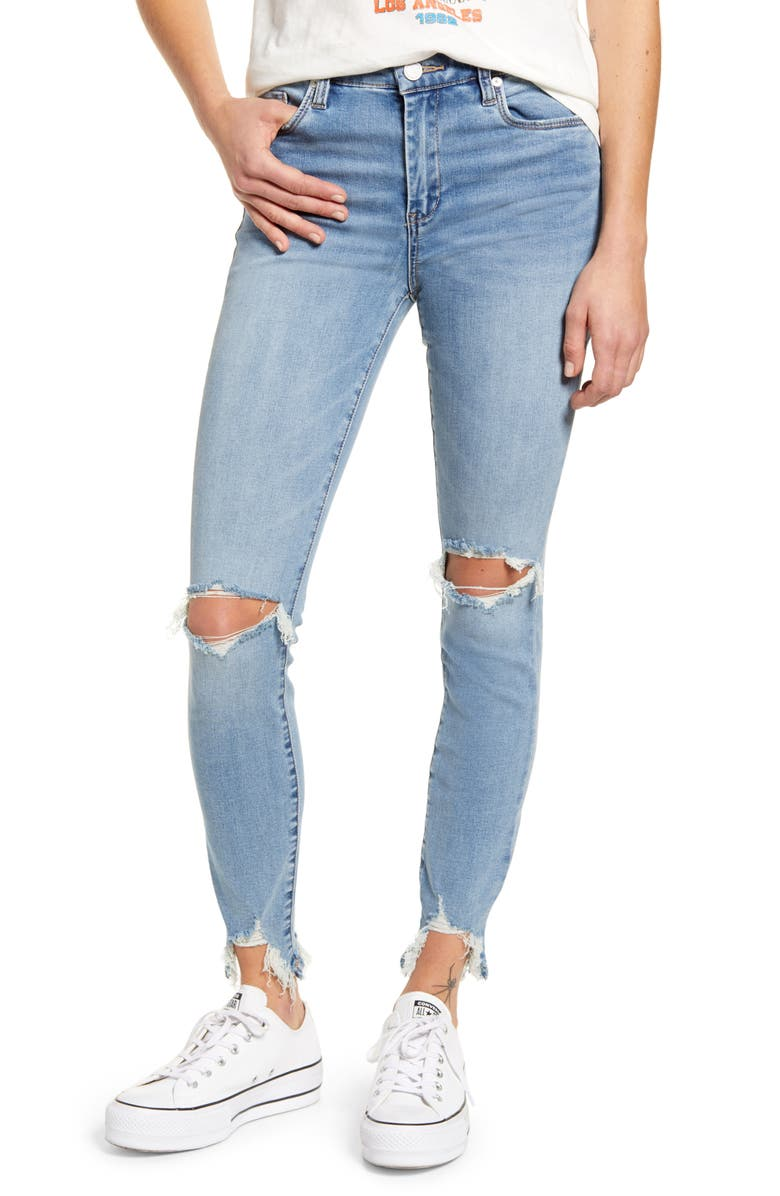 BLANKNYC The Bond Ripped Skinny Jeans, Main, color, PLAY THAT SONG